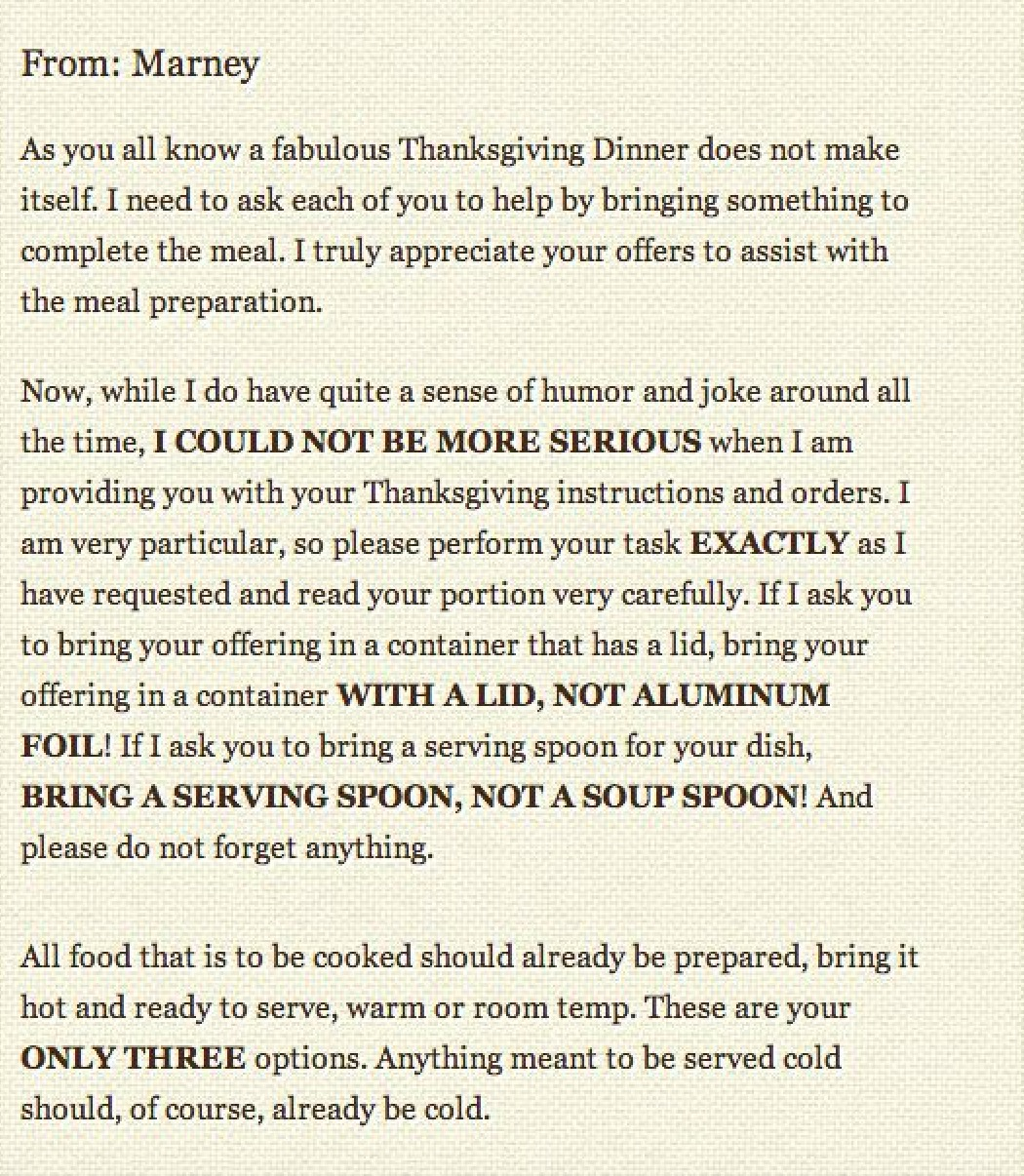 The Thanksgiving Letter