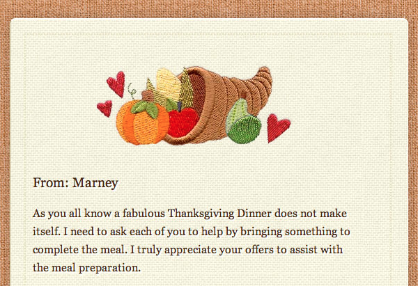 The Thanksgiving Letter: Marney Speaks!   AwkwardFamilyPhotos.com