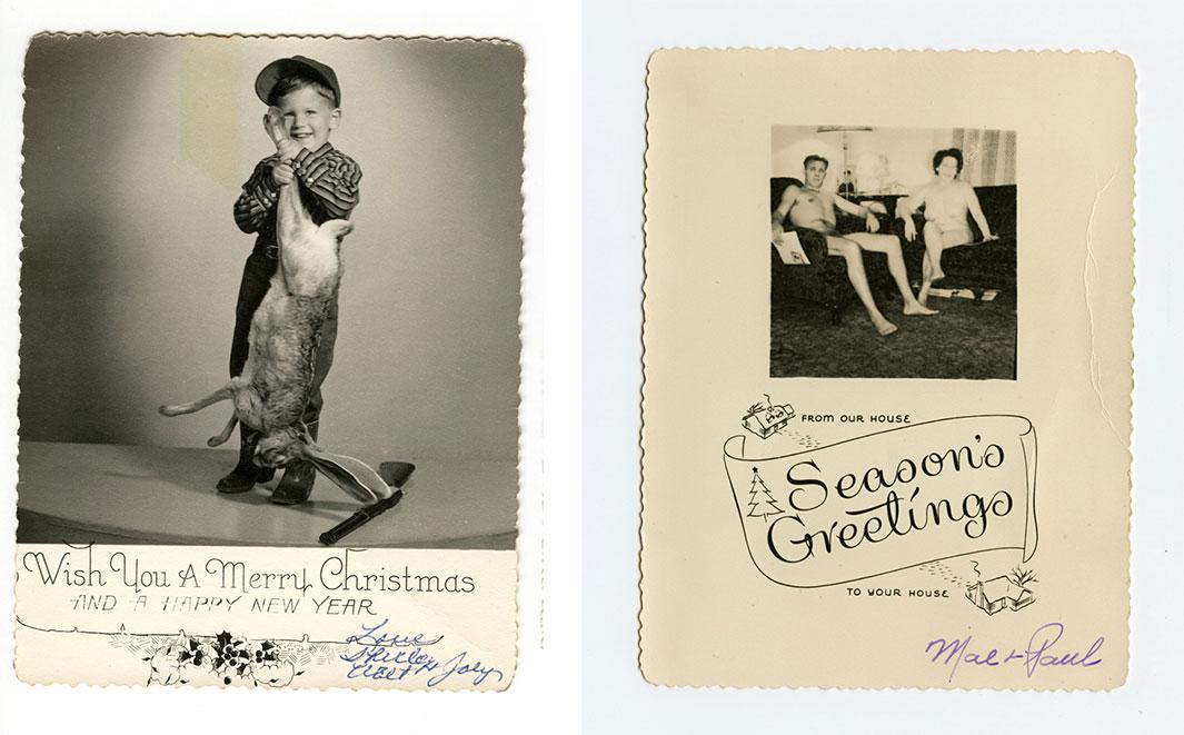 Strange Vintage Christmas Cards
