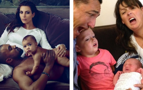 Mom Recreates Celebrity Parents' Photos And It's Totally