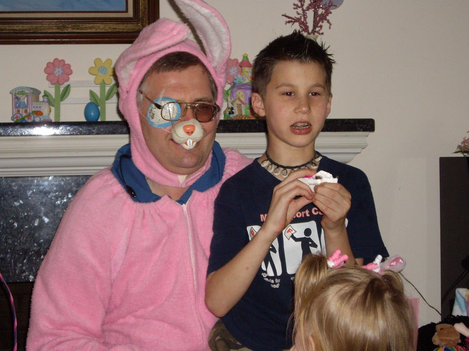 awkward easter bunny
