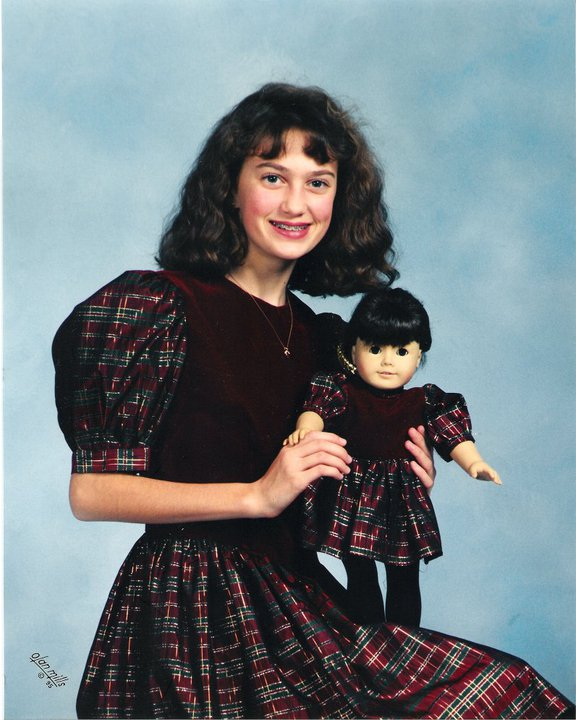 creepy doll picture, awkward school photo