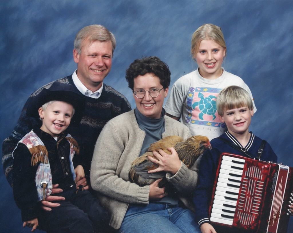 funny family portrait, random pet