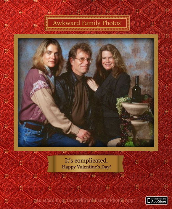Funny family photo cards awkward christmas holiday cards threes company m4hsunfo