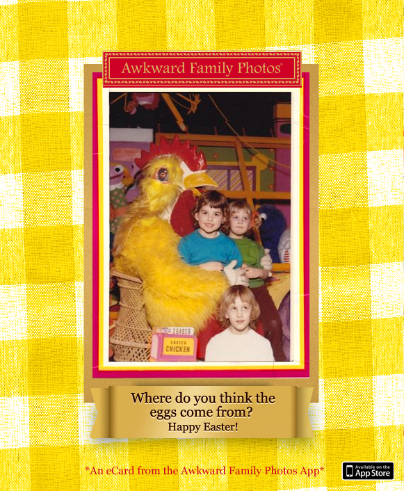 Funny family photo cards awkward christmas holiday cards easter eggs m4hsunfo