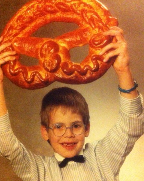 funny kid photos, giant pretzels
