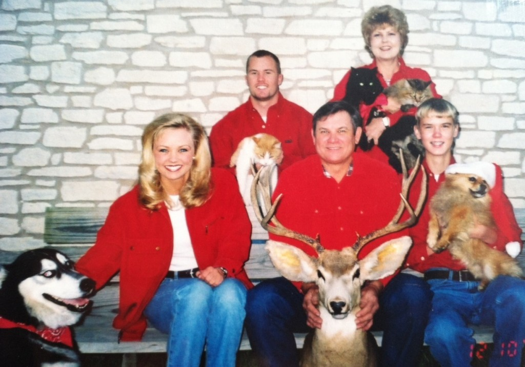 funny family portrait, chirstmas