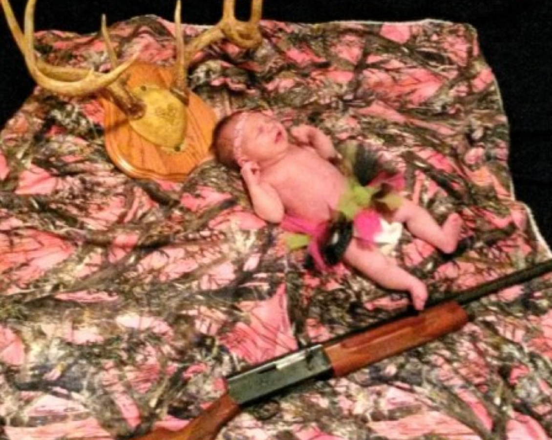 hunting baby, awkward baby pictures