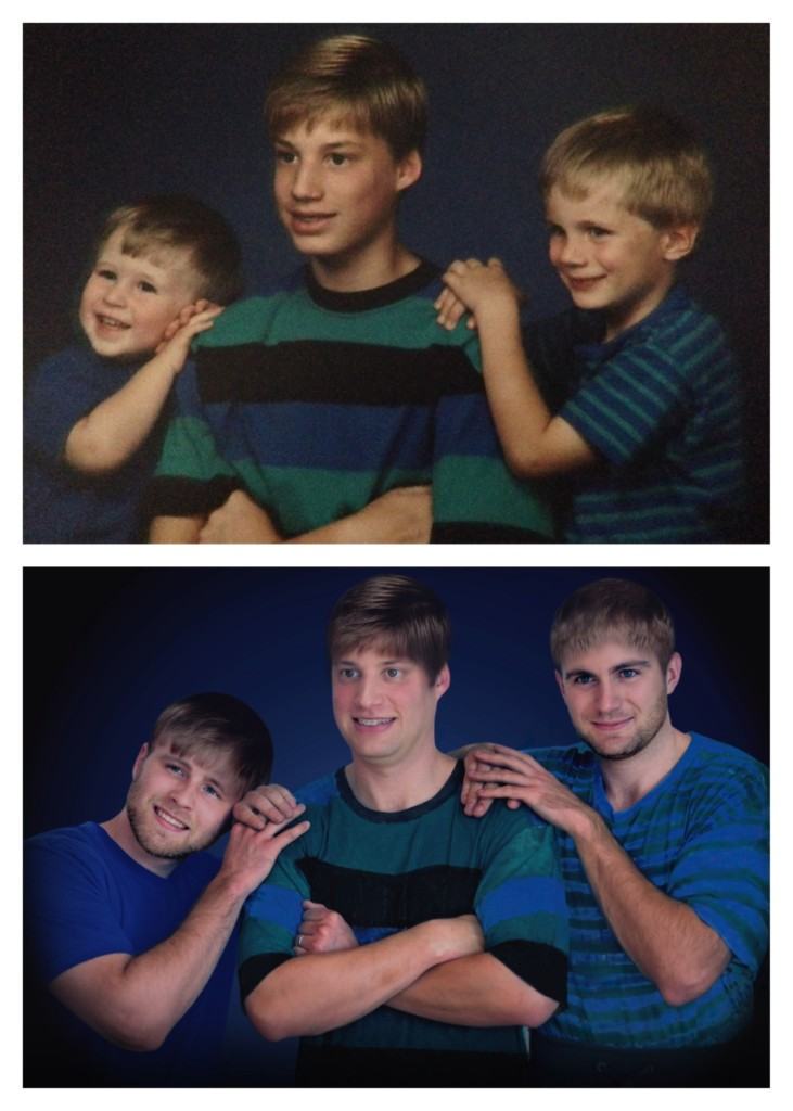 recreating the awkwardness, funny brother photo