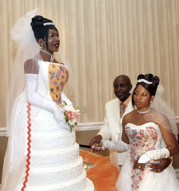 life size bride cake