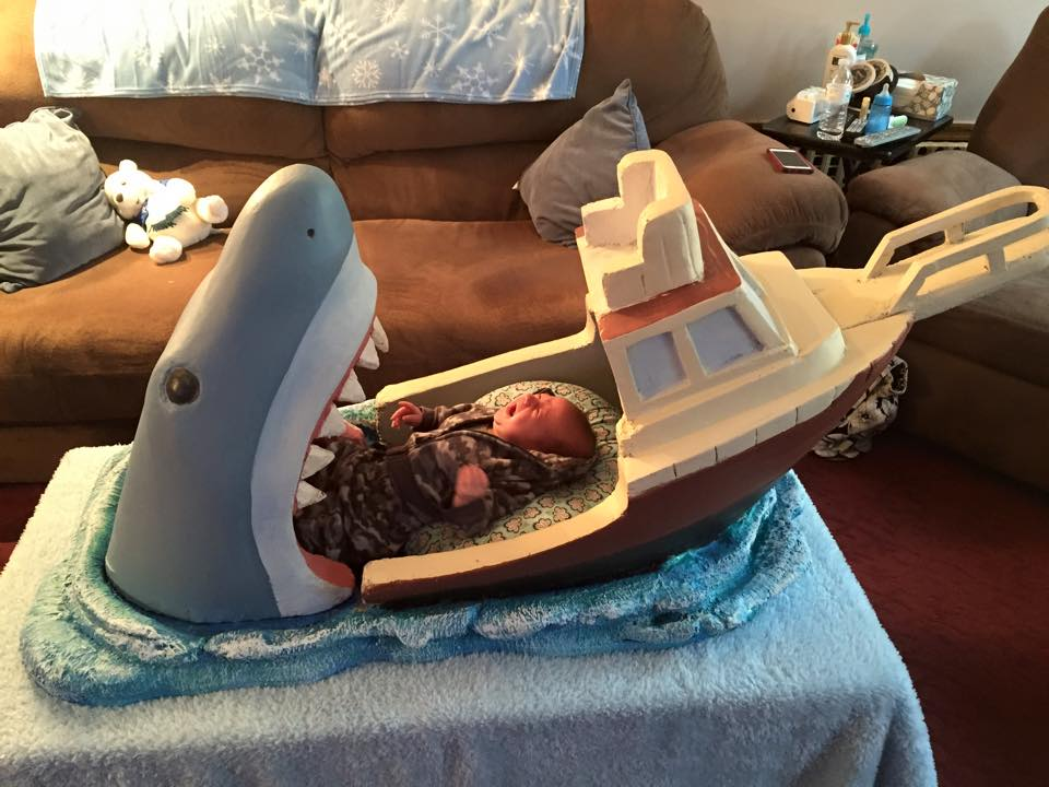 shark attack crib
