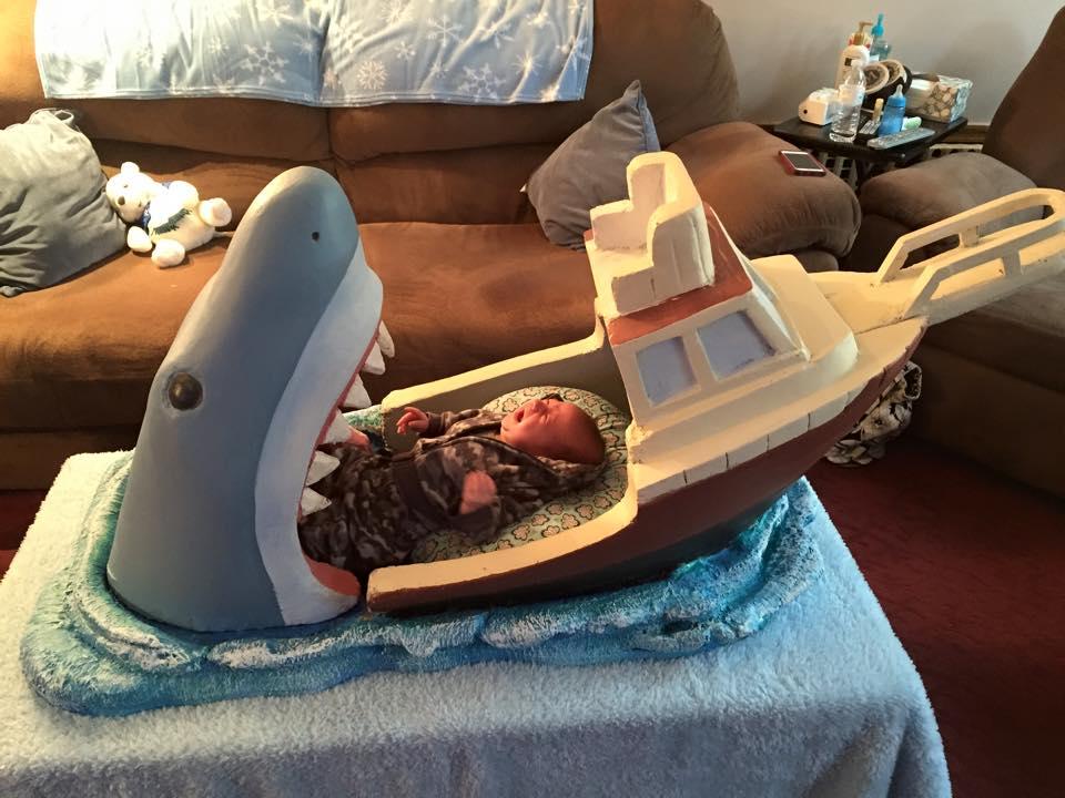 shark attack crib