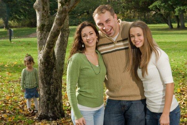 kid left out, family portrait