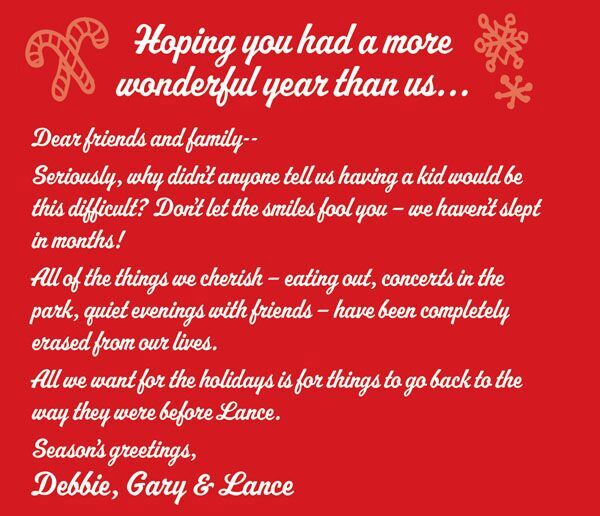 A Holiday Letter From Debbie, Gary, & Lance