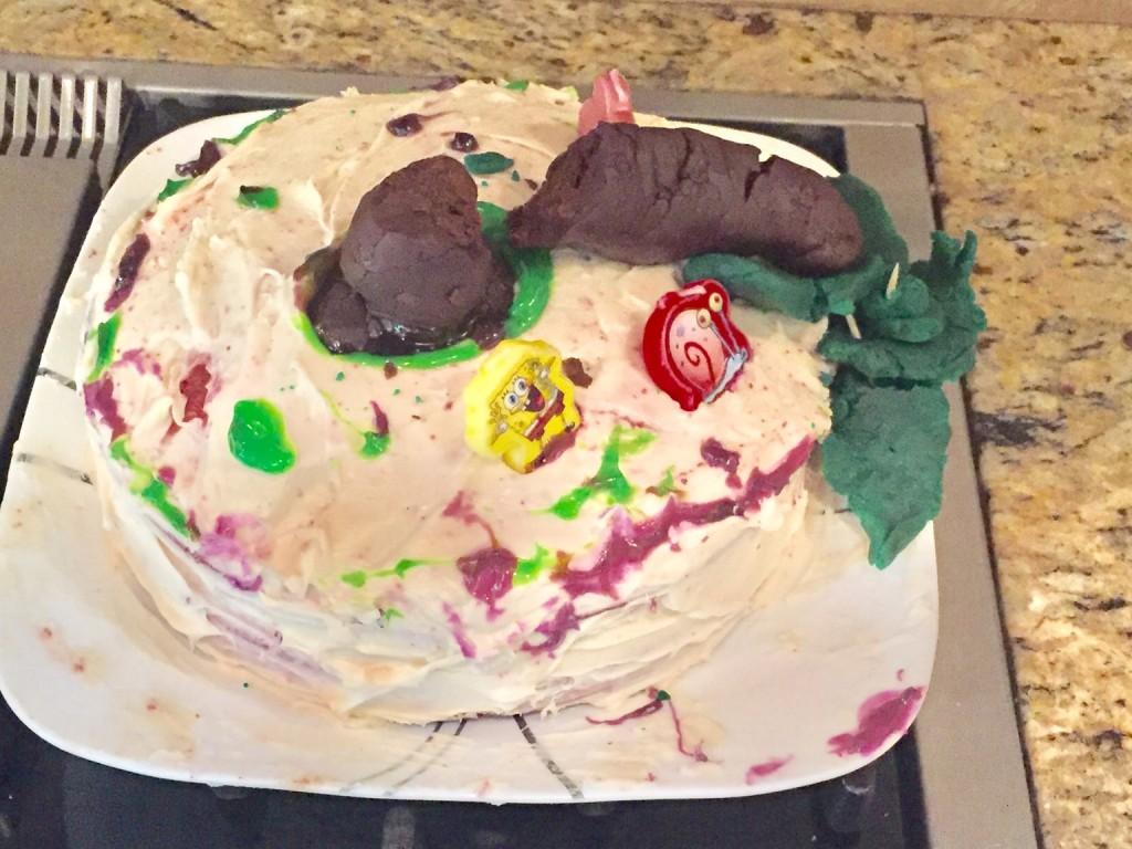 картинка упавший торт